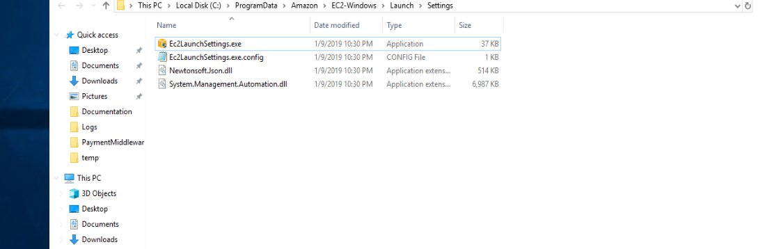 開啟 Ec2LaunchSettings.exe